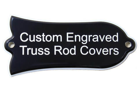 Custom Engraved truss rod cover for Gibson guitars
