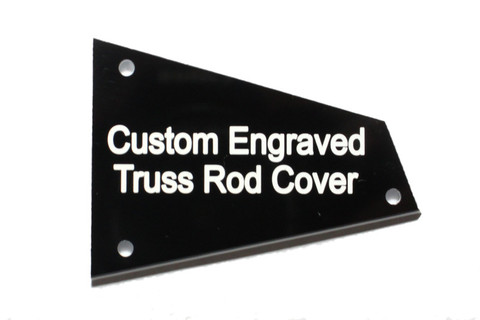 Custom Engraved Barless Nut Truss Rod Cover for Ibanez Guitars with Access TRC