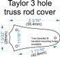 Custom Engraved Truss Rod Cover fits most 3 hole Taylor