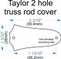 "Custom Engraved ""Signature"" Truss Rod Cover fits most 2 hole Taylor guitars"