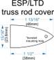 Custom Engraved Truss Rod Cover for ESP/LTD Guitars