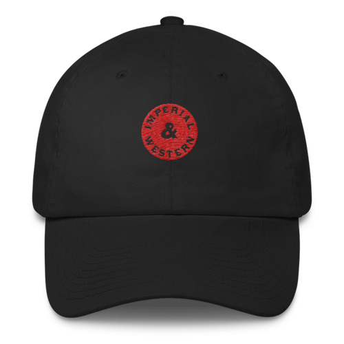 IW OUTSIDE LOGO RED 6 PANEL CAP - 208