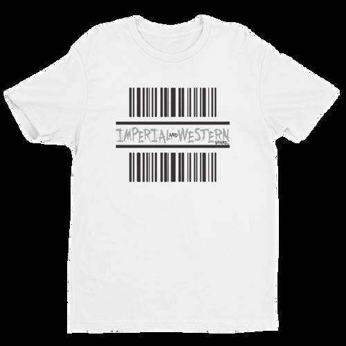 IW BARCODE LOGO BLK/GRAY - Short Sleeve T-shirt - 160