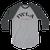IW BANNER LOGO OG 2 BLK LTR - 3/4 sleeve raglan shirt - 127BLLS