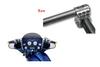 """Klock Werks Klip Hanger 10""""  Handlebars for '96-13 FLHT/FLHX, Trikes & other custom applications w/ """"Batwing"""" Fairing - Raw"""