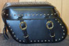 Leather Pro 3200 Series Leather Saddlebags for Harley Softails w/ Stock Exhaust  (NOT for Deuce) -Studded