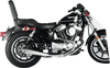 SuperTrapp 2-Into-1 Megaphone Systems for '86-03 Harley Davidson Sporster XL  - Satin