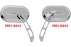 Drag Specialties Oval Mirrors -Left (Each)