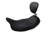 Mustang Seats Wide Tripper Solo Seat with Driver Backrest for Harley-Davidson® Touring Models 2008-Up -Diamond Pattern