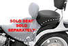 Mustang Wide Recessed Rear Seat (for Driver Backrest Solos) on Cross Bones FLSTSB '08-Up   w/ 200mm Wide Tire -Studded