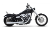 Rinehart Exhaust  2-into-1 Exhaust System for Dyna '06-17 - Chrome with Black End Cap