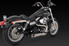 Vance & Hines 2-Into-1 Competition Series Exhaust for '06-11 Dyna  Models -Stainless Steel