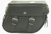 Boss Bags #38 Model  Braided Lid Valence with  Laced Leather on Lid Corner for Harley Models