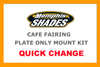 Memphis Shades Cafe Fairing Plate-Only Mount Kit for '10-11 XL 1200C - Polished CAFE FAIRING & MOUNTING KIT SOLD SEPARATELY