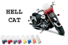"""Memphis Shades Handlebar Mount Windshield -Hell Cat Style for Yamahas with 7/8-1"""" Bars"""