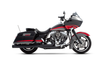 Rinehart Racing 2-into-1 Exhaust System for Harley Davidson Touring Models '09-16 Black w/ Black End Caps