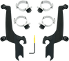 Memphis Shades Sportshield No-Tool Windshield Mounting Hardware for Fury 1300 '10-15 - Black Night Shades
