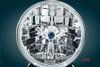 Adjure  5 3/4 inch Diamond Cut-Trillient Tri Bar with Blue Dot