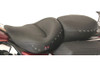 Mustang  One-Piece Heated Touring Seat for FLHR/FLHX '97-07 -Studded