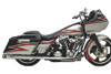 SuperTrapp 2 Into 2 True Dual Head Pipes for Harley Davidson Touring Models '86-08 - Chrome [MUFFLERS NOT INCLUDED]