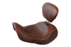 Mustang  Wide Tripper Forward Solo w/ Driver Backrest for '06-17 Dyna/Wide Glide Models -Distressed Brown