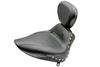 Mustang  Sport Solo Seat with Driver Backrest  for Heritage Springer '00-05   (w Standard Rear Tire) -Studded