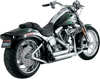 Vance & Hines Shortshots Staggered Exhaust for Softail '86-11 Chrome