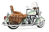 """Freedom Performance Exhaust Sharktail System for Indian Chief Deluxe/Roadmaster/Standard & Vintage '09-13 -Chrome w/ 2½"""" Mufflers"""