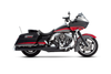 Rinehart Racing  2-into-1 Exhaust System for Harley Davidson Touring Models '09-16 Black w/ Chrome End Caps
