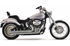 Cobra Speedster Slash-Down  Exhaust w/ PowerPort for Softail '86-06