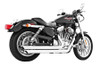 Freedom Performance Exhaust Patriot (LG) Slash for '04-13 XL -Chrome FOR FORWARD CONTROLS ONLY