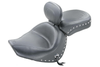 Mustang Two-Piece Wide Touring Seat  with Driver Backrest for Boulevard C90 '05-09 -Studded