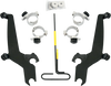 Memphis Shades Sportshield No-Tool Windshield Mounting Hardware for Spirit 750DC '01-03 & '05-07 & Spirit 1100 '97-08 -Black