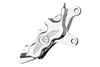 """Performance Machine Six-Piston Front Calipers for Certain H-D Models Starting in '00 for use with 13"""" Rotors (112 x 6B calipers) -Chrome, Right Caliper"""