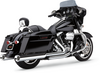 Cobra Tri-Flo Slip On Mufflers for '95-16 Harley Davidson Touring Models Choose Finish