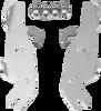 Memphis Shades Fats/Slim Quick-Release Windshield Hardware for FLSTN '93-96 & '05-17  WITH OEM LIGHTBAR