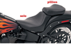 Saddlemen Renegade Deluxe Sport Pillion for '06-10 FXST & '07-17 FLSTF -with Studs (Shown without studs)