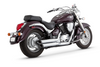 Vance & Hines Twin Slash Staggered Exhaust for '05-09 M50/C50 -Chrome