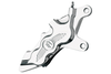 """Performance Machine Six-Piston Front Calipers for Certain H-D Models Starting in '84 for use with 11.5"""" Rotors (112 x 6B calipers) -Chrome, Right Caliper"""