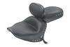 Mustang  Two-Piece Wide Touring Seat with Driver Backrest  for V-Star 1300 '07-Up-Studded