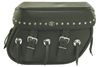 Boss Bags #38 Model Studded on Lid Only w/ Conchos on Bag Body