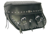 Boss Bags #36 Model  Studded on Lid Valence, Top & Body w/ Conchos on Body for Harley Models