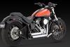 Vance & Hines Shortshots Staggered for Harley Davidson Softail '12-17 - Chrome