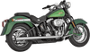 Vance & Hines Softail Duals for '97-11 Harley Davidson Softail Models - Chrome