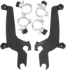 Memphis Shades Fats/Slim No-Tool Windshield Mounting Hardware for Vulcan 900 Custom '07-13 -Black Night Shades