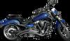 Baron Custom Exhaust Nasty Boy Wicked Curves Exhaust for '08-Up Yamaha Raider - Chrome Slash-Cut