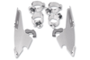 Memphis Shades Fats/Slim Windshield  Quick Change Mounting Kit for  '08-13 FXDF Fat Bob -Polished