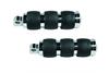 Avon Velvet Custom Male-Mount Footpegs for '08-Up FL Models & H-D Trike -Velvet Air, Chrome