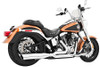 Freedom Performance Exhaust Union 2-Into-1 -for '86-15 Softail -Chrome w/ Black Tip