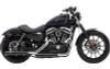 Cobra 3 inch Slip-On Mufflers w/ Racepro Tips for '07-17 FLSTF/FXSTD -Black